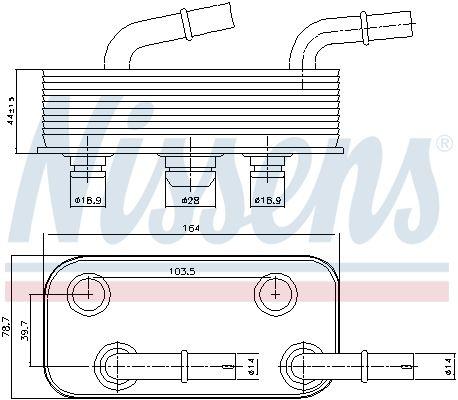 90657 Ölkühler, Automatikgetriebe NISSENS in Original Qualität