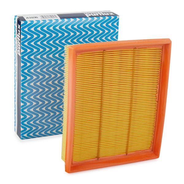 Origine Filtre à air PURFLUX A1036 (Longueur: 210mm, Longueur: 210mm, Largeur: 170mm, Hauteur: 43mm)