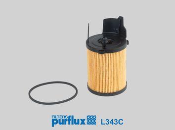 Origine Filtre à huile PURFLUX L343C (Diamètre intérieur: 27mm, Ø: 66mm, Hauteur: 106mm)