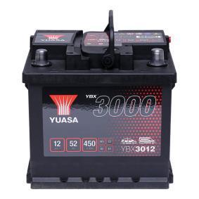 YBX3012 YUASA YBX3000 Batterie-Kapazität: 52Ah Kälteprüfstrom EN: 450A, Spannung: 12V, Polanordnung: 0 Starterbatterie YBX3012 günstig kaufen