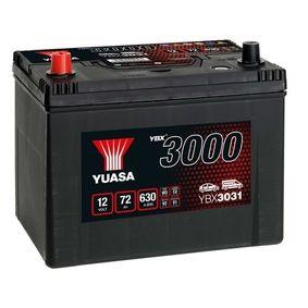 YBX3031 YUASA YBX3000 Batterie-Kapazität: 72Ah Kälteprüfstrom EN: 630A, Spannung: 12V, Polanordnung: 1 Starterbatterie YBX3031 günstig kaufen