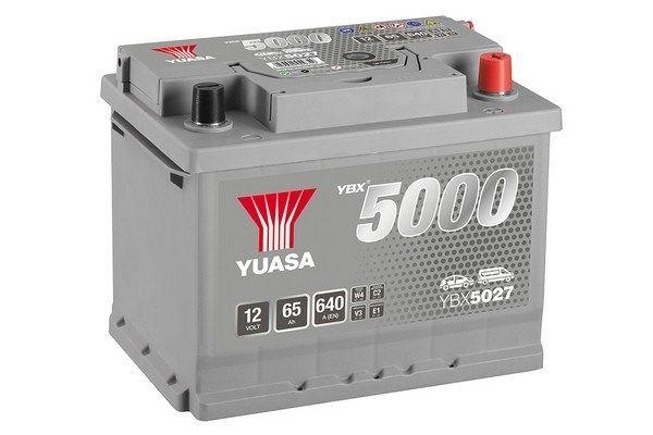 YBX5027 YUASA YBX5000 Batterie-Kapazität: 65Ah Kälteprüfstrom EN: 640A, Spannung: 12V, Polanordnung: 0 Starterbatterie YBX5027 günstig kaufen