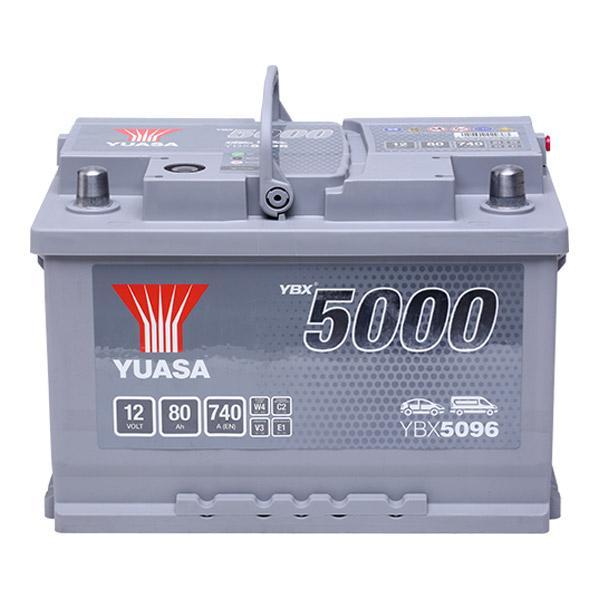 YBX5096 YUASA YBX5000 Batterie-Kapazität: 80Ah Kälteprüfstrom EN: 760A, Spannung: 12V, Polanordnung: 0 Starterbatterie YBX5096 günstig kaufen