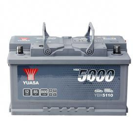 YBX5110 YUASA YBX5000 Batterie-Kapazität: 85Ah Kälteprüfstrom EN: 800A, Spannung: 12V, Polanordnung: 0 Starterbatterie YBX5110 günstig kaufen
