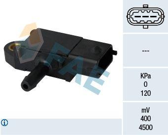 OPEL CORSA 2019 Abgasdrucksensor - Original FAE 16108 Pol-Anzahl: 3-polig