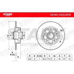 SKBD-0022309 Bremsscheibe STARK Erfahrung