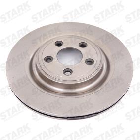 SKBD-0022290 STARK Hinterachse, Innenbelüftet, ohne Radnabe, ohne Radbefestigungsbolzen Ø: 326mm, Bremsscheibendicke: 20mm Bremsscheibe SKBD-0022290 günstig kaufen