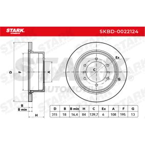 SKBD-0022124 Bremsscheibe STARK Erfahrung
