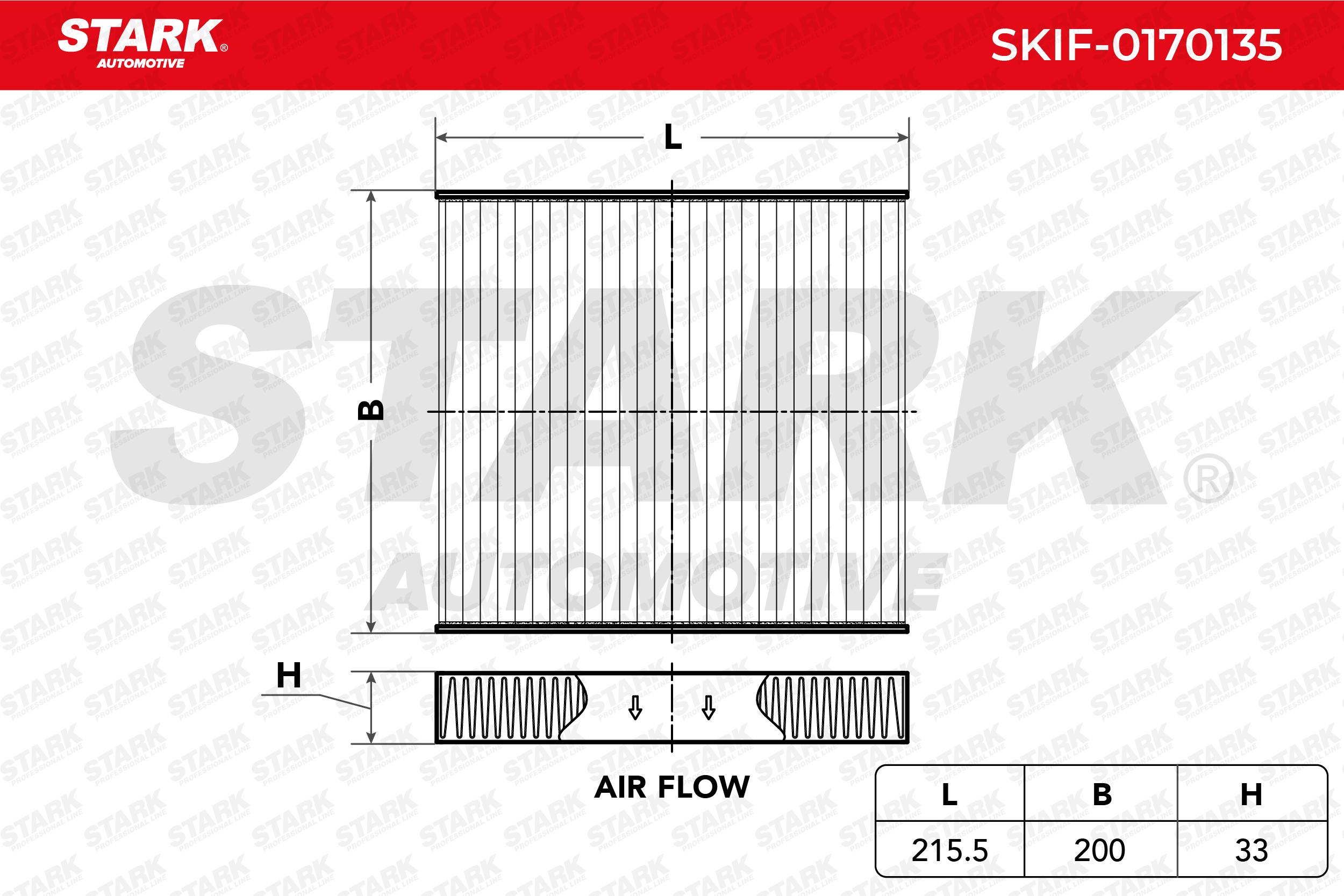 STARK: Original Pkw-Heizung SKIF-0170135 (Breite: 200mm, Höhe: 33mm, Länge: 215,5mm)