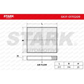 Filtr, wentylacja przestrzeni pasażerskiej STARK SKIF-0170209 kupić i wymienić