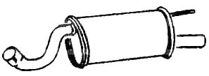 VEGAZ: Original Endschalldämpfer JS-43 (Länge: 950mm, Länge: 950mm)