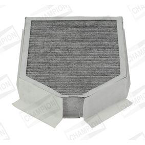 CCF0244C CHAMPION Aktivkohlefilter Breite: 181mm, Höhe: 45mm, Länge: 250mm Filter, Innenraumluft CCF0244C günstig kaufen