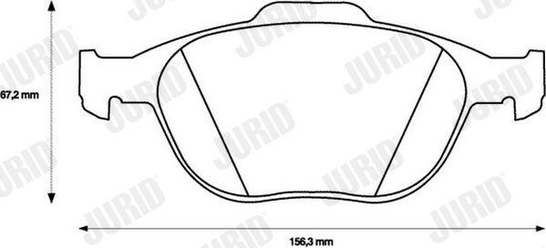 Bremsbelagsatz Scheibenbremse JURID 573085JC