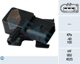 FAE: Original Abgasdrucksensor 16102 (Pol-Anzahl: 3-polig)