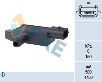 RENAULT 12 Differenzdrucksensor - Original FAE 16113 Pol-Anzahl: 3-polig