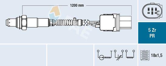 Lambda sensor 75050 FAE — only new parts