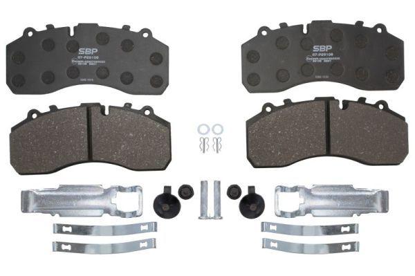 07-P29108 SBP Bremsbelagsatz, Scheibenbremse für MERCEDES-BENZ AROCS jetzt kaufen