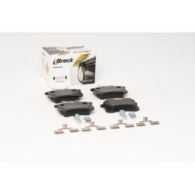209611070400 Bremsbelagsatz, Scheibenbremse BRECK 20961 10 704 00 - Große Auswahl - stark reduziert