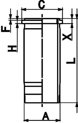KOLBENSCHMIDT Cylinderhylsa till DAF - artikelnummer: 89861110