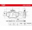 Bremsbelagsatz, Scheibenbremse SKBP-0010035 Twingo I Schrägheck 1.2 16V 75 PS Premium Autoteile-Angebot