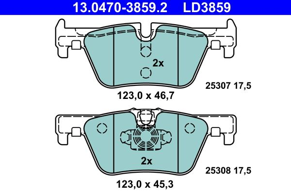13.0470-3859.2 Bremsbelagsatz ATE - Markenprodukte billig