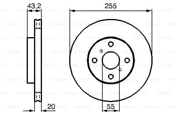 0 986 479 B60 Bremsscheibe BOSCH in Original Qualität