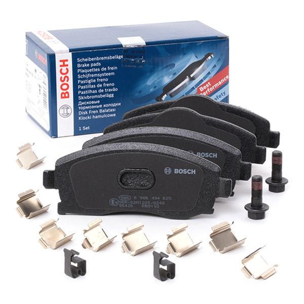Bremsbelagsatz Scheibenbremse für Bremsanlage Vorderachse BOSCH 0 986 494 625