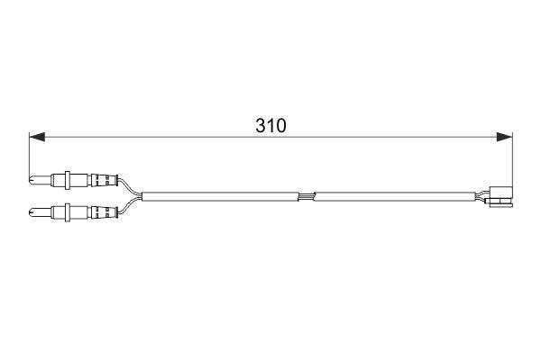 BOSCH: Original Verschleißanzeige Bremsen 1 987 474 519 (Länge: 310mm)