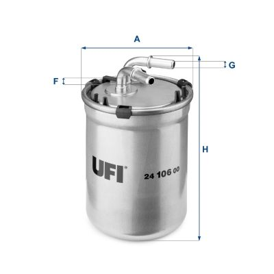 Skoda SUPERB UFI Palivový filtr 24.106.00