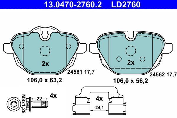 13.0470-2760.2 Bremssteine ATE in Original Qualität