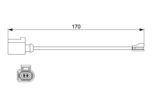BOSCH: Original Verschleißsensor 1 987 474 512 (Länge: 170mm)