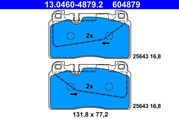 Bremsbelagsatz, Scheibenbremse 13.0460-4879.2 von ATE