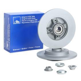 412194 ATE Voll, beschichtet, mit Lager, mit ABS-Sensorring Ø: 268,0mm, Lochanzahl: 4, Bremsscheibendicke: 12,0mm Bremsscheibe 24.0112-0194.2 günstig kaufen