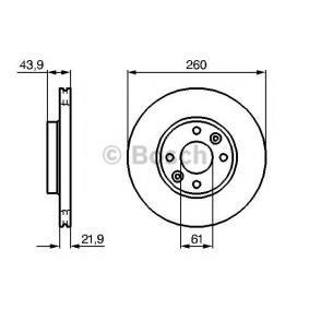0 986 479 B73 Disco de travão BOSCH Test