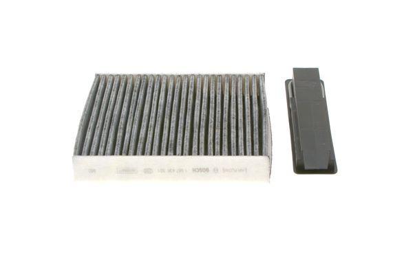 RENAULT TWINGO 2018 Klimafilter - Original BOSCH 1 987 435 501 Breite: 181mm, Höhe: 28mm, Länge: 205,5mm