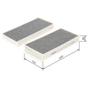 1 987 435 538 Filter, Innenraumluft BOSCH in Original Qualität