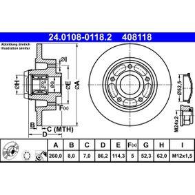 24.0108-0118.2 Bremsscheiben ATE in Original Qualität