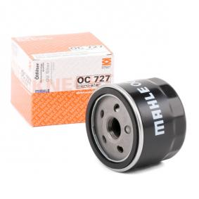 Kupi 79928697 MAHLE ORIGINAL Filter s navojem Notranji premer 2: 62,0mm, Ø: 76,0mm, Visina: 63,5mm Oljni filter OC 727 poceni
