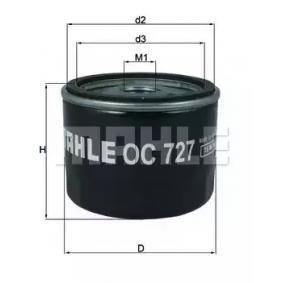 OC727 Маслен филтър MAHLE ORIGINAL 72357178 - Голям избор — голямо намалание