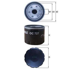 OC 727 Oljni filter MAHLE ORIGINAL originalni kvalitetni