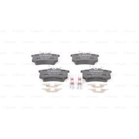 0986494621 Bremsbelagsatz, Scheibenbremse BOSCH E990R02A10810457 - Große Auswahl - stark reduziert
