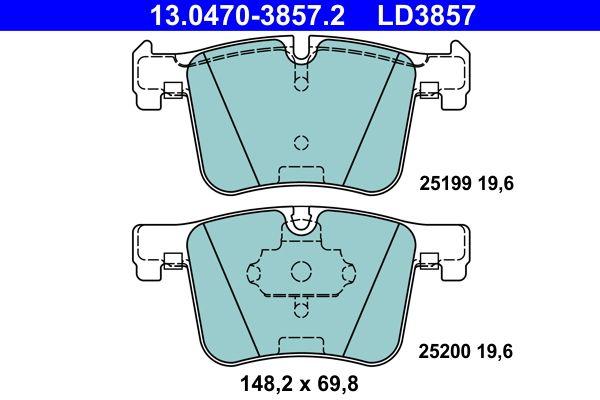 BMW 2er Ersatzteile: Bremsbelagsatz, Scheibenbremse 13.0470-3857.2 > Niedrige Preise - Jetzt kaufen!