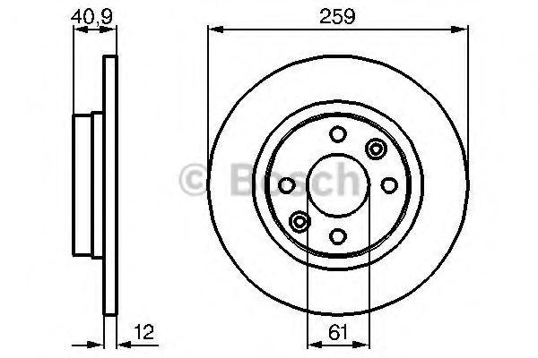 0 986 479 B79 Bremsscheibe BOSCH in Original Qualität
