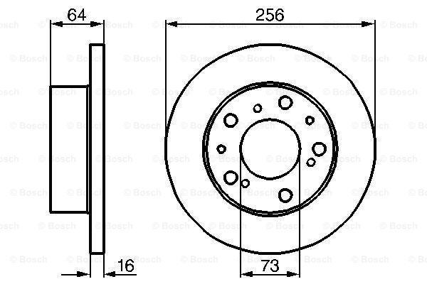 BOSCH: Original Scheibenbremsen 0 986 479 B24 (Ø: 256mm, Lochanzahl: 5, Bremsscheibendicke: 16mm)