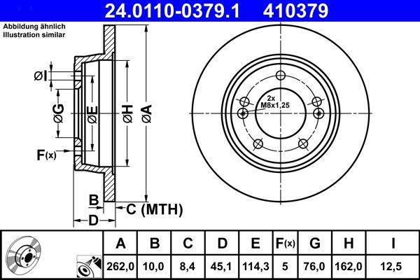 24.0110-0379.1 Scheibenbremsen ATE - Markenprodukte billig