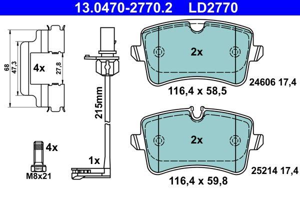 13.0470-2770.2 Bremssteine ATE in Original Qualität