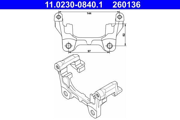 Bremssattelhalter 11.0230-0840.1 XF Limousine (X250) 3.0 D 275 PS Premium Autoteile-Angebot