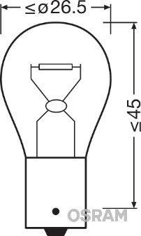 Lampadina luce posteriore 7508LDR-01B OSRAM — Solo ricambi nuovi