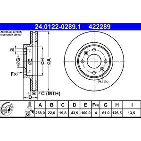 24.0122-0289.1 Bremsscheibe ATE - Markenprodukte billig