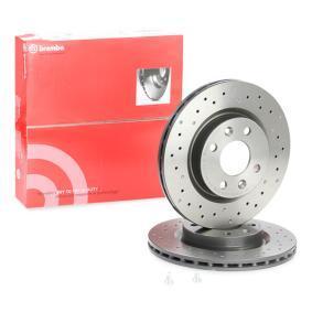 09.5802.2X BREMBO XTRA LINE Gelocht/innenbel., beschichtet, hochgekohlt, mit Schrauben Ø: 259mm, Lochanzahl: 4, Bremsscheibendicke: 20,6mm Bremsscheibe 09.5802.2X günstig kaufen
